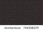 intersecting curved elegant... | Shutterstock .eps vector #746508259