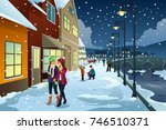 a vector illustration of people ... | Shutterstock .eps vector #746510371