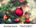 christmas background   baubles... | Shutterstock . vector #746510857