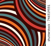 striped pattern. repeated wavy... | Shutterstock .eps vector #746519551