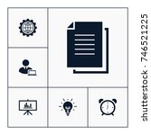 document icon business set... | Shutterstock .eps vector #746521225