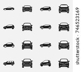 set of various cars front and... | Shutterstock .eps vector #746523169