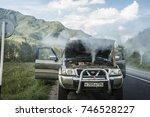 altai  russia  august 04 2017 ... | Shutterstock . vector #746528227