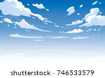vector day landscape sky clouds.... | Shutterstock .eps vector #746533579