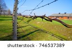 auschwitz concentration camp in ... | Shutterstock . vector #746537389