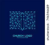 church logo. christian symbols. ...   Shutterstock .eps vector #746546689