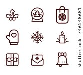 christmas line icon collection | Shutterstock .eps vector #746548681