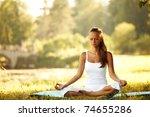 yoga woman | Shutterstock . vector #74655286