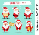 santa claus funny character set.... | Shutterstock .eps vector #746553295