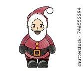 cartoon santa claus icon over... | Shutterstock .eps vector #746553394
