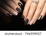 beautiful female hands.... | Shutterstock . vector #746559037