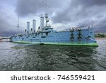 the russian cruiser aurora...   Shutterstock . vector #746559421