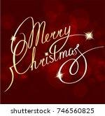 christmas  gold  glitter ... | Shutterstock . vector #746560825