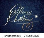 christmas  gold  glitter ...   Shutterstock . vector #746560831