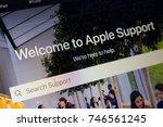 paris  france   october 19 ... | Shutterstock . vector #746561245