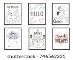 scandinavian style posters for ... | Shutterstock .eps vector #746562325