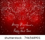 lettering merry christmas and... | Shutterstock .eps vector #746568901