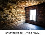 Spooky Creepy Abandoned Farm House Neglected Rotten Decay Horror urbex photography - stock photo