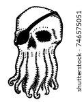 monochrome vector illustration... | Shutterstock .eps vector #746575051