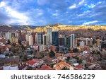 cityscape of la paz in bolivia  ... | Shutterstock . vector #746586229