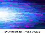abstract glitch vector... | Shutterstock .eps vector #746589331