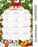 2018 Calendar In Christmas...