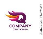 letter q logo. vector format ... | Shutterstock .eps vector #746593657