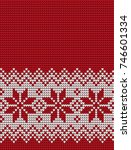 knitted christmas and new year... | Shutterstock .eps vector #746601334