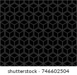 seamless geometry grid graphic...   Shutterstock .eps vector #746602504