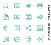 set of 16 commercial outline... | Shutterstock .eps vector #746603995
