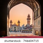 the wazir khan mosque is... | Shutterstock . vector #746604715