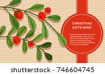 christmas concept vector flat... | Shutterstock .eps vector #746604745