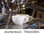 making a espresso and cappuccino | Shutterstock . vector #746610841