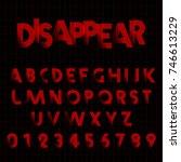 alphabet font template. set of... | Shutterstock .eps vector #746613229