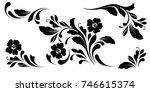 the set of flowers design... | Shutterstock .eps vector #746615374