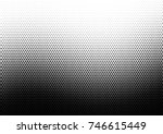 halftone wave background.... | Shutterstock .eps vector #746615449