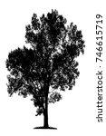 isolated black  tree... | Shutterstock . vector #746615719