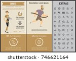sports infographic template ... | Shutterstock .eps vector #746621164
