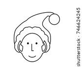 santa helper icon | Shutterstock .eps vector #746624245