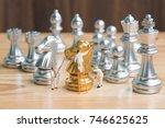 miniature people team painting... | Shutterstock . vector #746625625