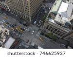 new york city 5th ave vertical... | Shutterstock . vector #746625937