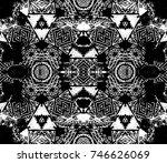 ethnic design. striped... | Shutterstock . vector #746626069
