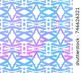 ethnic design. striped... | Shutterstock . vector #746626321