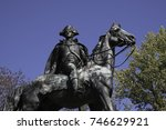anthony wayne statue close up... | Shutterstock . vector #746629921