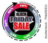 black friday sale. the banner... | Shutterstock .eps vector #746630311