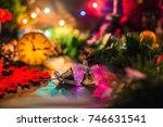new year's decorations. small... | Shutterstock . vector #746631541