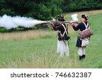 valley forge  pennsylvania  ... | Shutterstock . vector #746632387