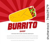roll vector  burrito  chicken...   Shutterstock .eps vector #746639179