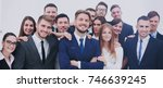 the team of the successful... | Shutterstock . vector #746639245