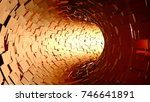 brown tunnel loop motion... | Shutterstock . vector #746641891